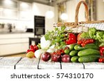 Vegetables And Kitchen Place
