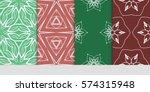 set of decorative geometric... | Shutterstock .eps vector #574315948