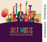 colorful music background....   Shutterstock .eps vector #574319626
