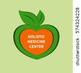 logo  icon holistic medical... | Shutterstock . vector #574324228