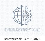industry 4.0 concept business... | Shutterstock .eps vector #574325878