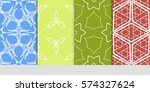 set of lace seamless pattern.... | Shutterstock .eps vector #574327624