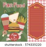 fast food menu template. vector ...   Shutterstock .eps vector #574335220