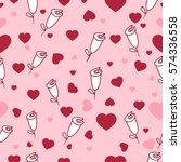 cute seamless pattern with... | Shutterstock .eps vector #574336558