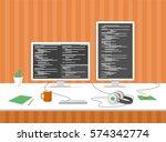 programmer's  computer engineer'... | Shutterstock .eps vector #574342774