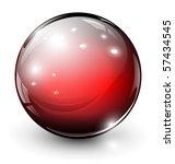 glass sphere  3d vector... | Shutterstock .eps vector #57434545
