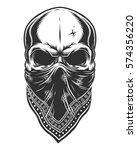 illustration of skull in...   Shutterstock . vector #574356220