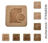 new shekel report on rounded... | Shutterstock .eps vector #574368346