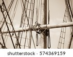 Sepia Filtered Image Of Mast O...