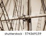 Sepia Filtered Image Of Mast O...