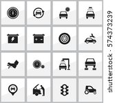 set of 16 editable traffic... | Shutterstock . vector #574373239