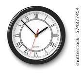 vector noble wall clock with...   Shutterstock .eps vector #574377454