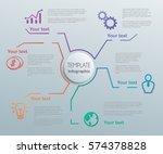 lines vector elements for... | Shutterstock .eps vector #574378828