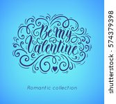 happy valentine's day hand... | Shutterstock .eps vector #574379398