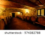 wine cellar in tuscany  italy | Shutterstock . vector #574382788