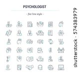 vector graphic set.icons in... | Shutterstock .eps vector #574383979
