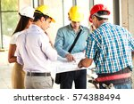 group of architects and experts ... | Shutterstock . vector #574388494