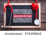 high blood pressure general... | Shutterstock . vector #574390810