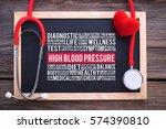 high blood pressure general... | Shutterstock . vector #574390810