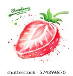 watercolor illustration of half ... | Shutterstock . vector #574396870