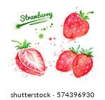 watercolor set of illustrations ... | Shutterstock . vector #574396930