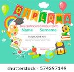 kindergarten preschool... | Shutterstock .eps vector #574397149