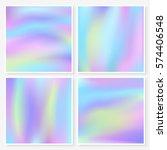 holographic backgrounds set.... | Shutterstock .eps vector #574406548