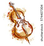 cello in watercolor style.... | Shutterstock .eps vector #574407304