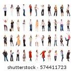 people diversity big group    Shutterstock . vector #574411723