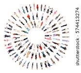 teamwork achievement corporate... | Shutterstock . vector #574413274