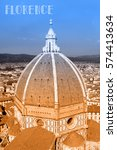 travel postcard with view of... | Shutterstock . vector #574413634
