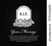 Funeral Card   Grave Stone Wit...