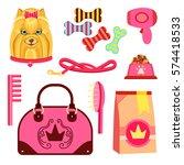 vector illustration set of... | Shutterstock .eps vector #574418533