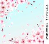 blooming cherry. spring... | Shutterstock . vector #574419316
