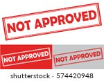 nor approved rubber stamp.... | Shutterstock .eps vector #574420948