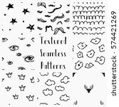 set of abstract hand drawn... | Shutterstock .eps vector #574421269