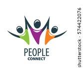vector logo people   Shutterstock .eps vector #574422076