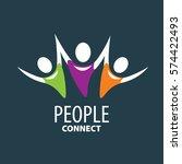 vector logo people | Shutterstock .eps vector #574422493