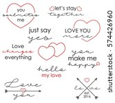 set of love quotes for... | Shutterstock .eps vector #574426960