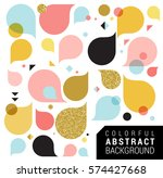 modern abstract feminine... | Shutterstock .eps vector #574427668