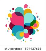 colorful abstract background ... | Shutterstock .eps vector #574427698