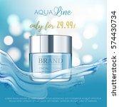 aqua cream premium vip cosmetic ... | Shutterstock .eps vector #574430734