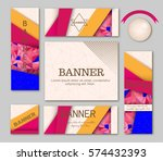 collection of abstract modern... | Shutterstock .eps vector #574432393