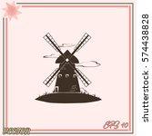 windmill vector icon. mill. | Shutterstock .eps vector #574438828