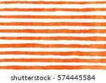 watercolor orange brush strokes ...   Shutterstock . vector #574445584
