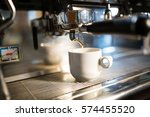 close up of coffee machine... | Shutterstock . vector #574455520