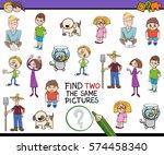 cartoon illustration of find... | Shutterstock .eps vector #574458340