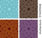 vintage seamless colorful... | Shutterstock .eps vector #574459048