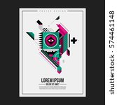 poster design template with... | Shutterstock .eps vector #574461148