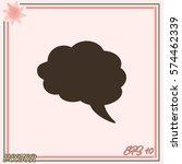 speech bubble vector icon | Shutterstock .eps vector #574462339